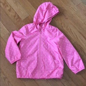 Carter's, adorable girly pink raincoat, size 4/5